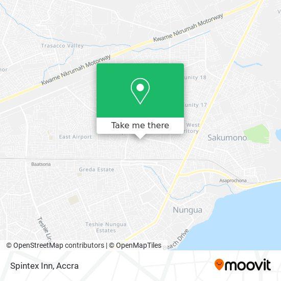 Spintex Inn map