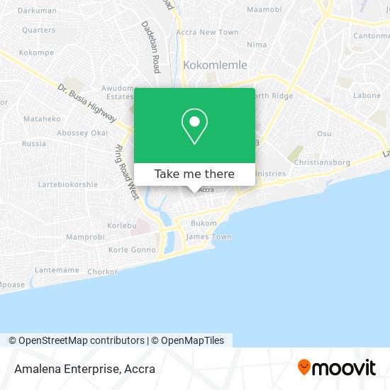 Amalena Enterprise map