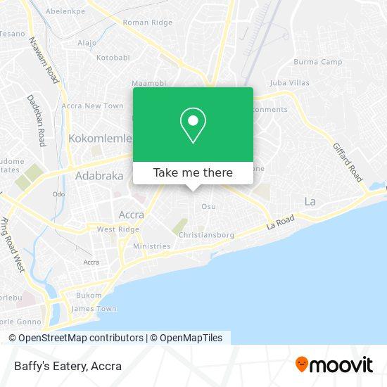 Baffy's Eatery map