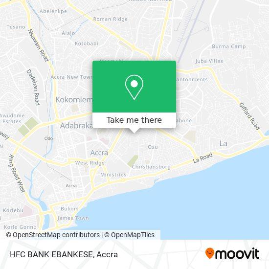 HFC BANK EBANKESE map