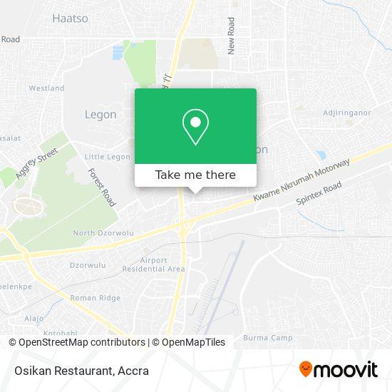 Osikan Restaurant map