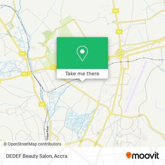 DEDEF Beauty Salon map