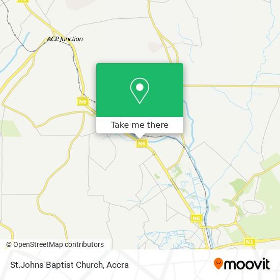 St.Johns Baptist Church map