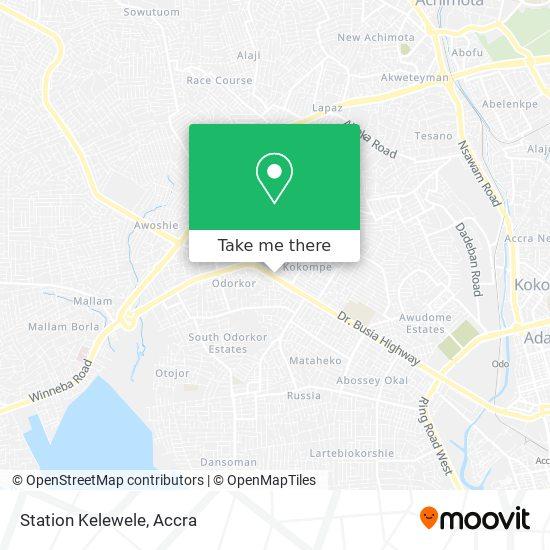 Station Kelewele map