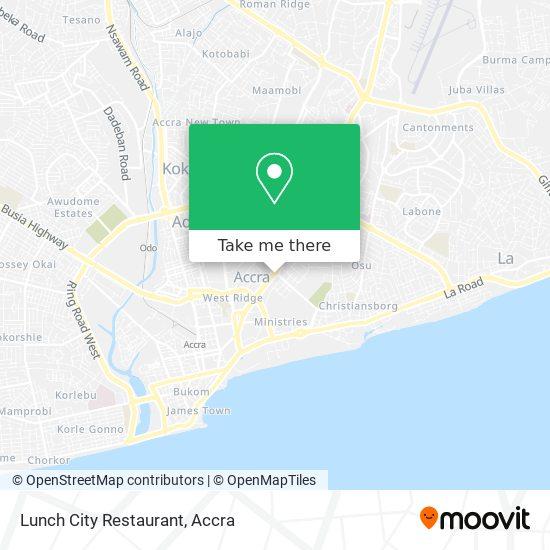 Lunch City Restaurant map