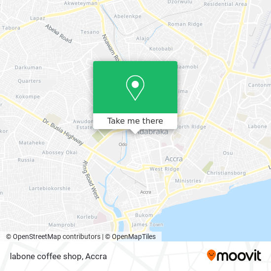 labone coffee shop map