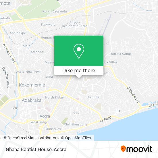 Ghana Baptist House map