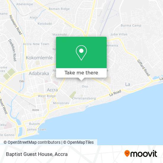 Baptist Guest House map