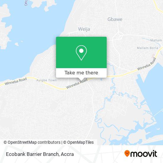 Ecobank Barrier Branch map