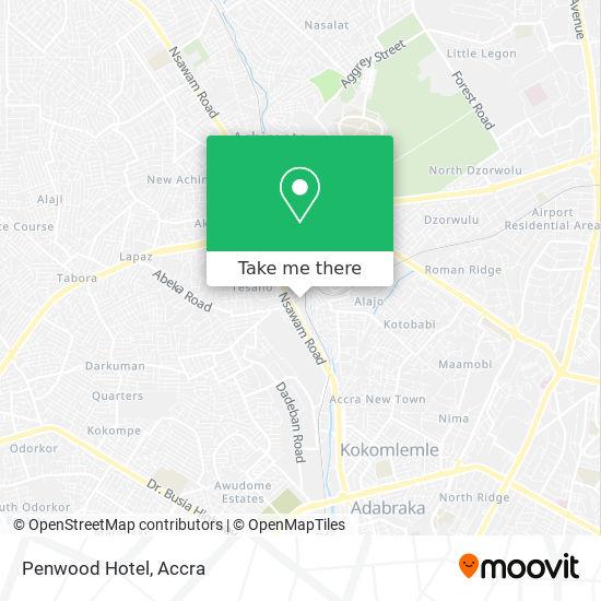 Penwood Hotel map