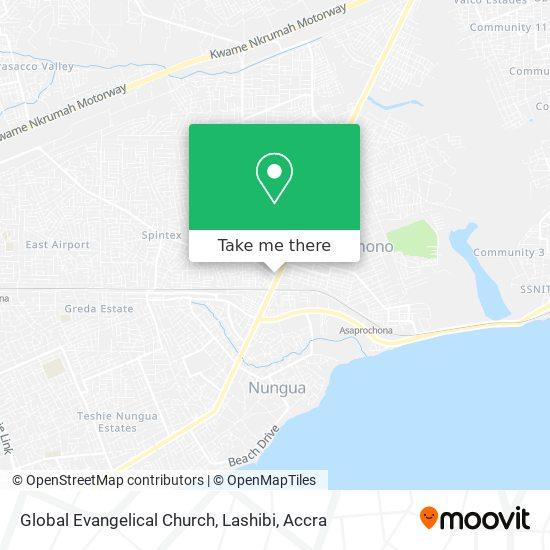 Global Evangelical Church, Lashibi map