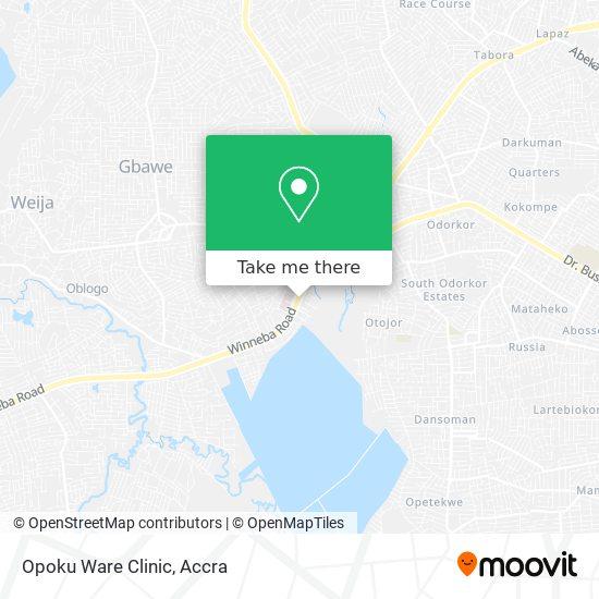 Opoku Ware Clinic map