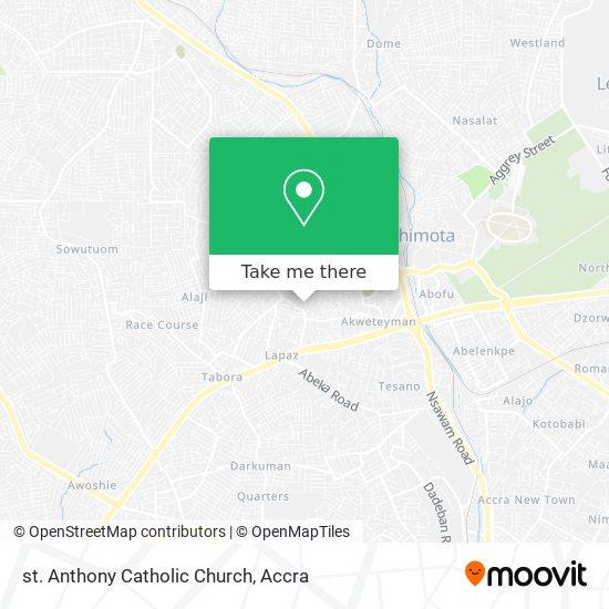 st. Anthony Catholic Church map