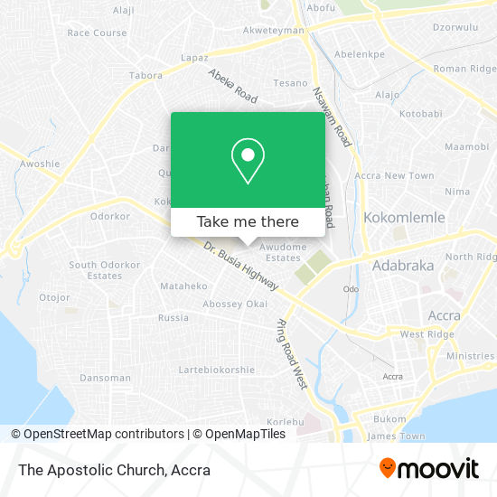 The Apostolic Church map