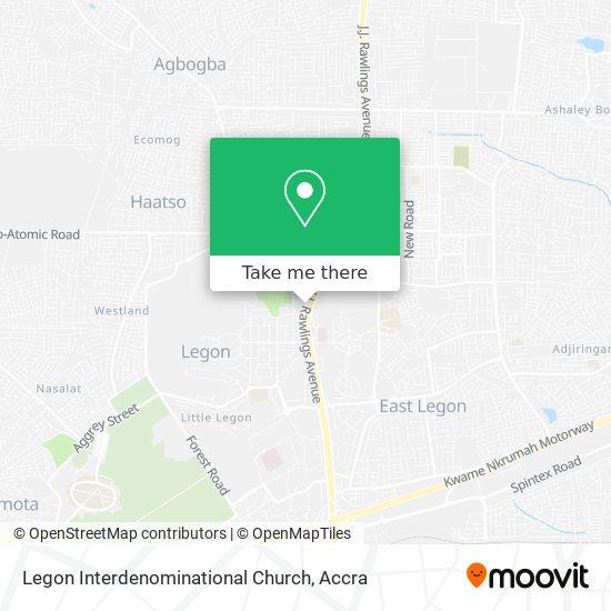 Legon Interdenominational Church map