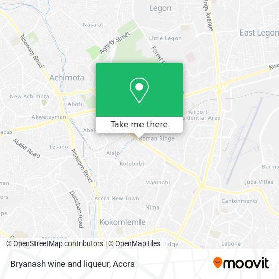 Bryanash wine and liqueur map