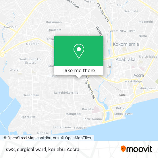 sw3, surgical ward, korlebu map