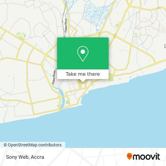 Sony Web map