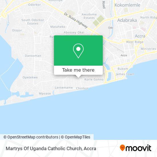 Martrys Of Uganda Catholic Church map