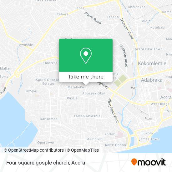 Four square gosple church map