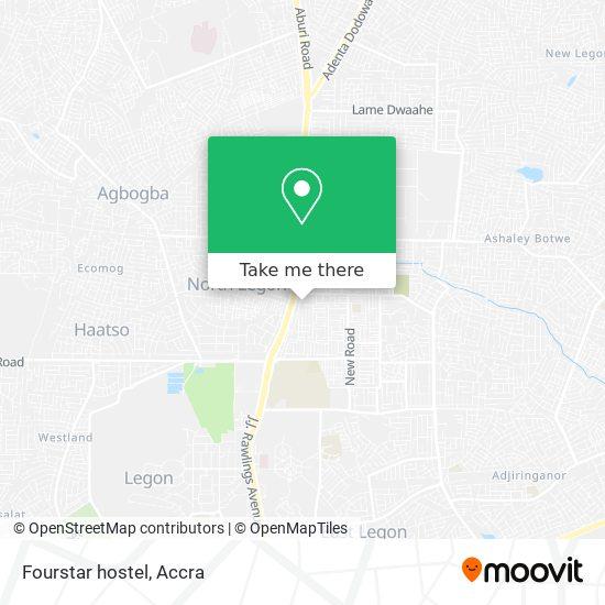 Fourstar hostel map
