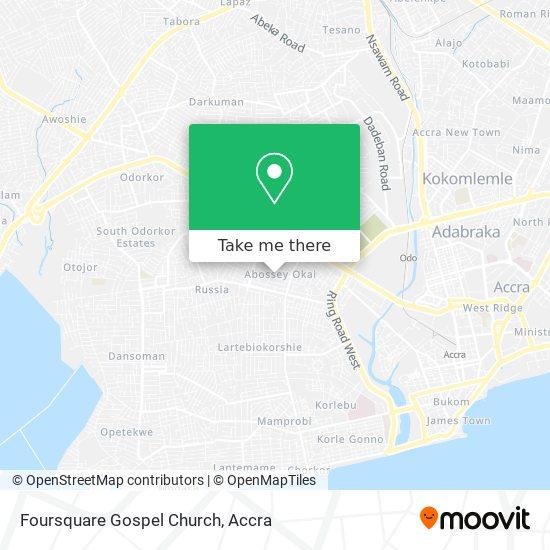 Foursquare  Gospel Church map
