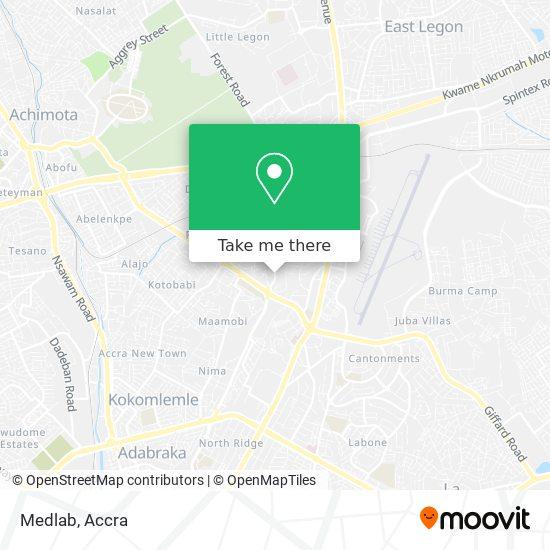 Medlab map