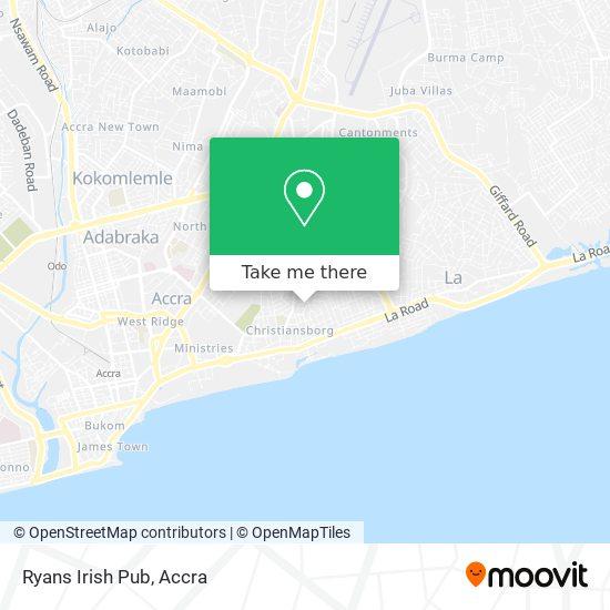 Ryans Irish Pub map