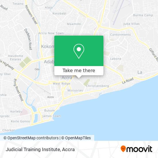 Judicial Training Institute map