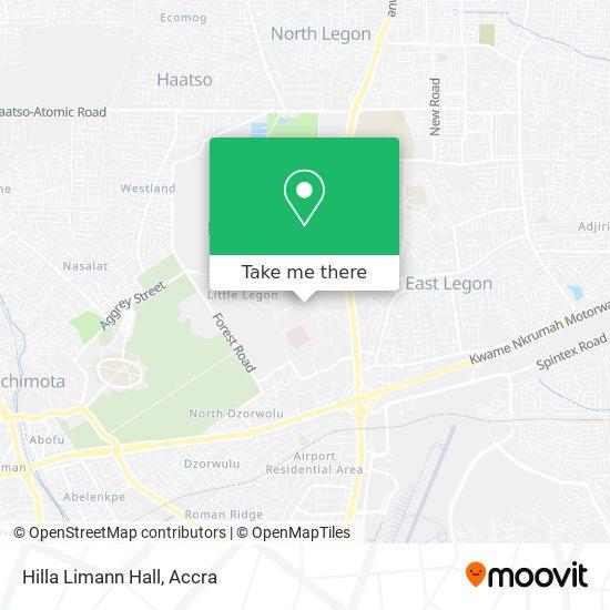 Hilla Limann Hall map
