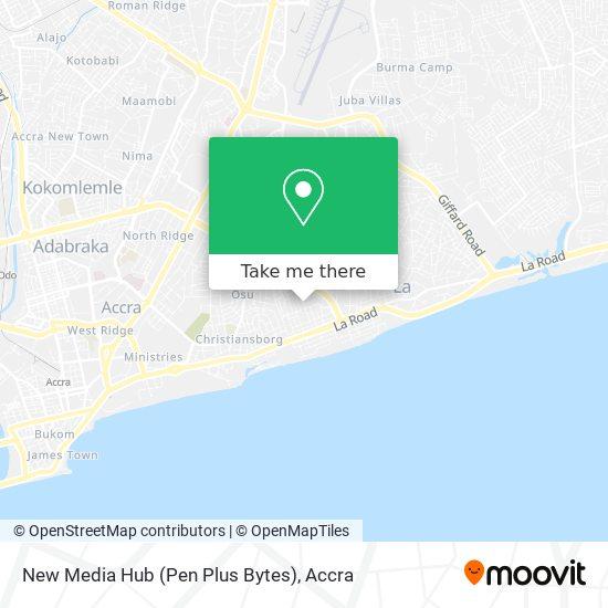 New Media Hub (Pen Plus Bytes) map