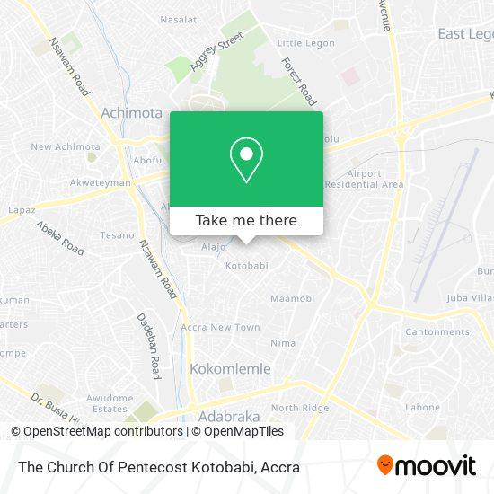 The Church Of Pentecost Kotobabi map