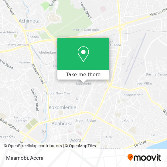 Maamobi map