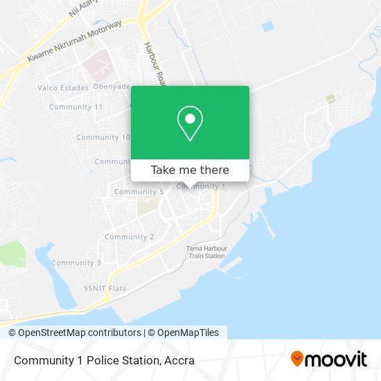 Community 1 Police Station map