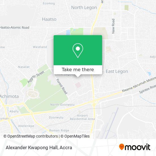 Alexander Kwapong Hall map