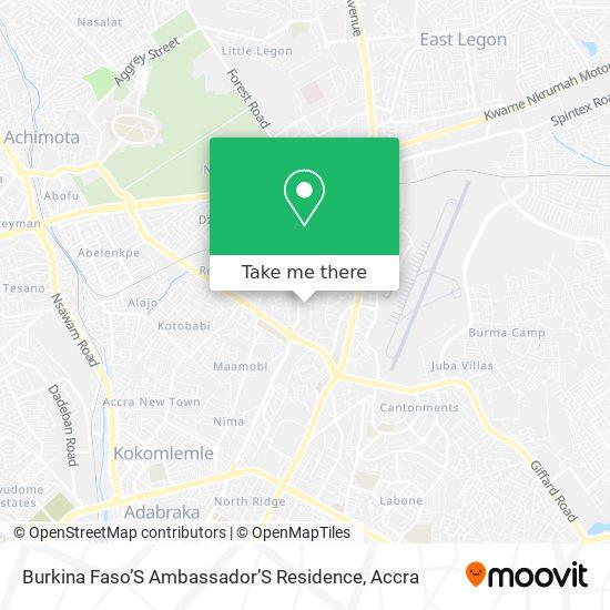 Burkina Faso'S Ambassador'S Residence map