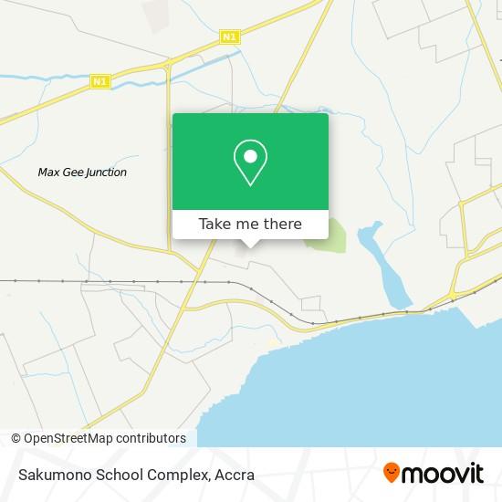 Sakumono School Complex map