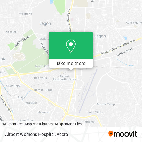 Airport Womens Hospital map