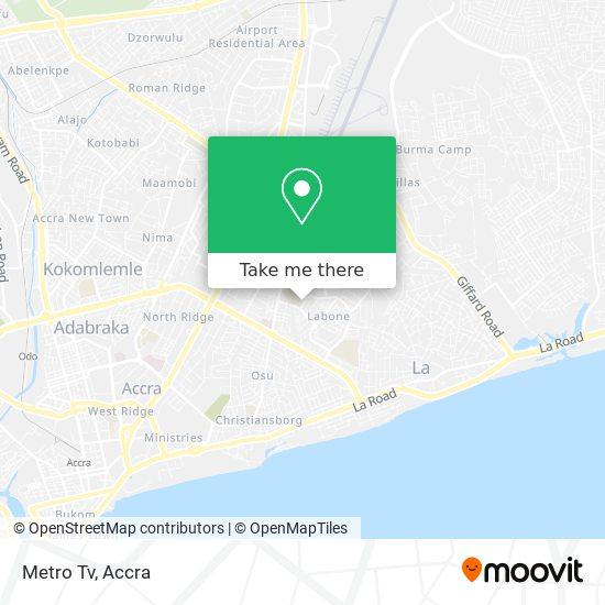 Metro Tv map