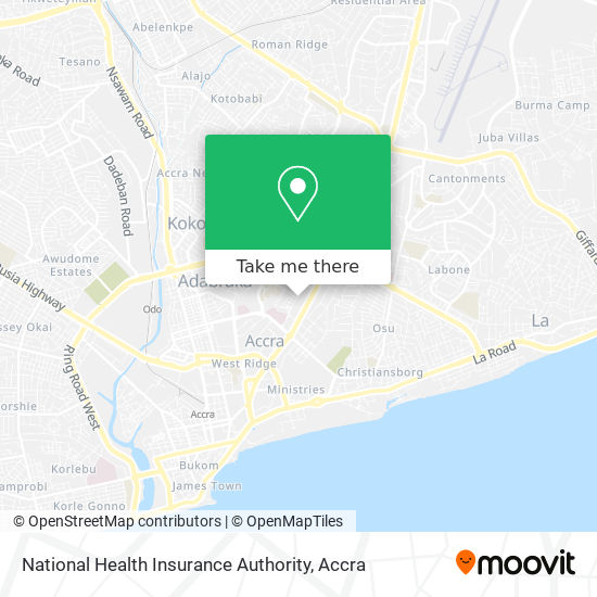 National Health Insurance Authority map
