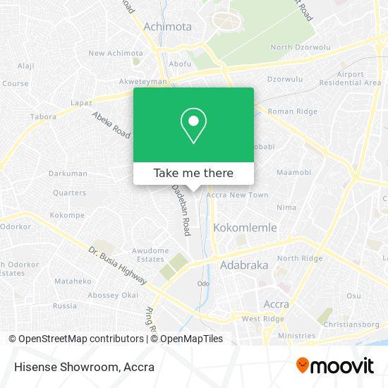 Hisense Showroom map