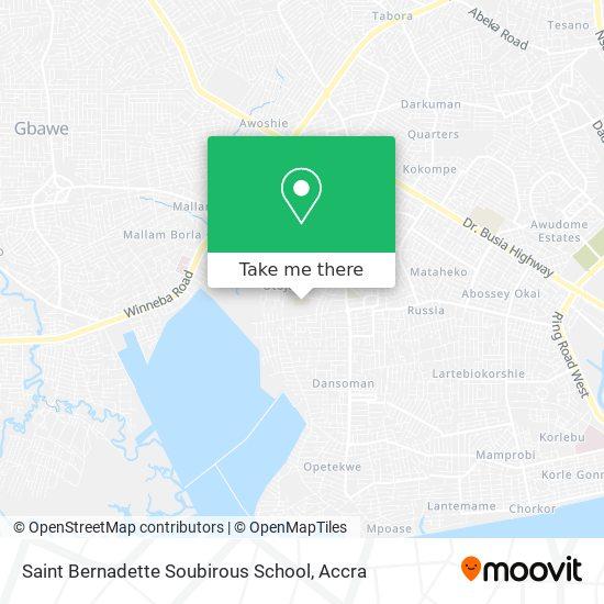Saint Bernadette Soubirous School map