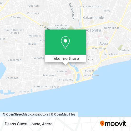 Deans Guest House map