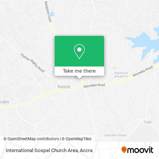 International Gospel Church Area map