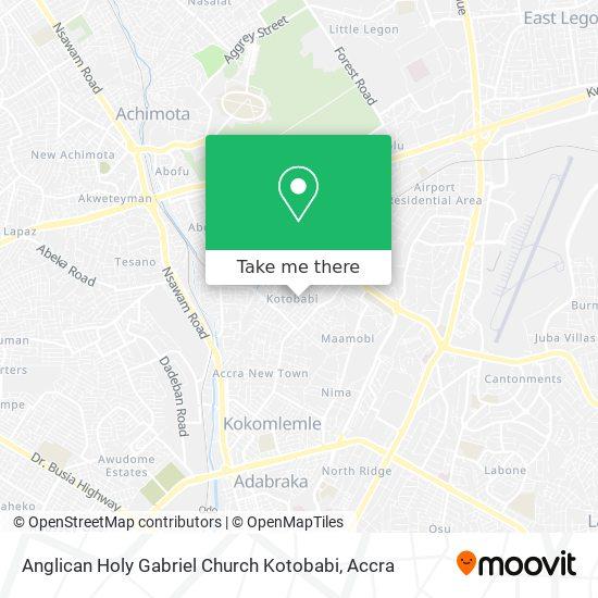 Anglican Holy Gabriel Church Kotobabi map