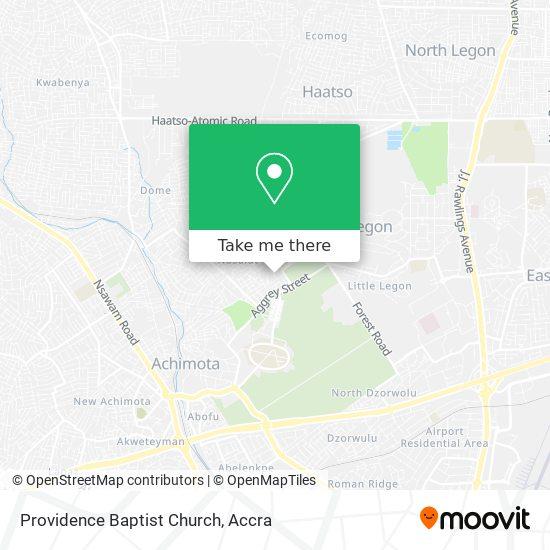 Providence Baptist Church map
