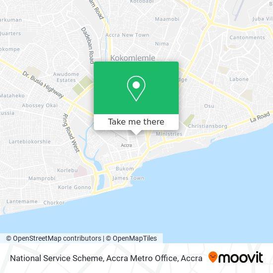 National Service Scheme, Accra Metro Office map
