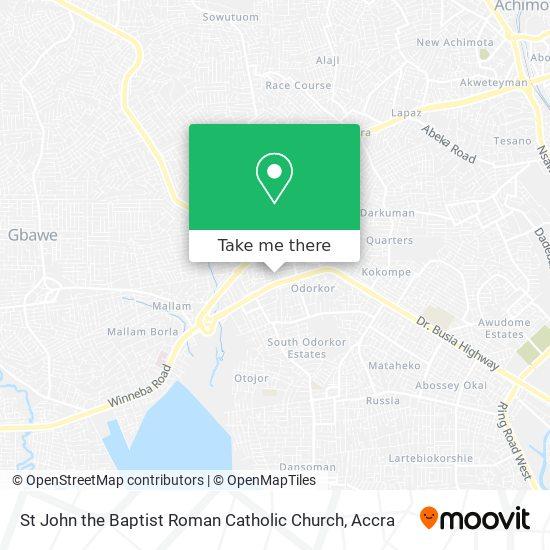 St John The Baptist Roman Catholic Church map