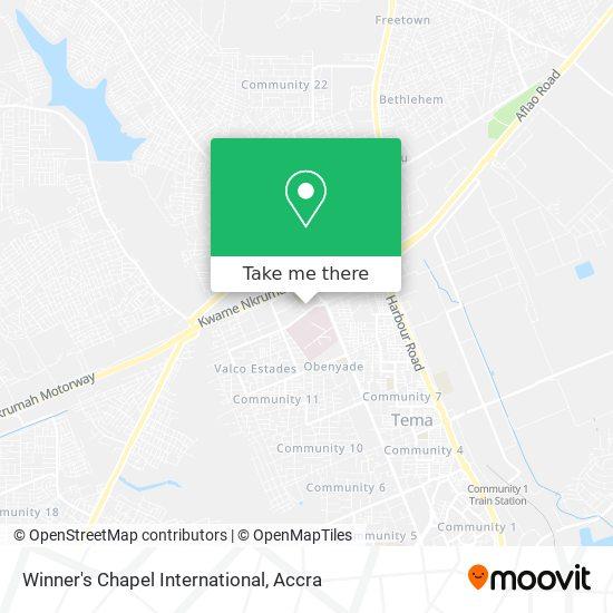 Winner's Chapel International map