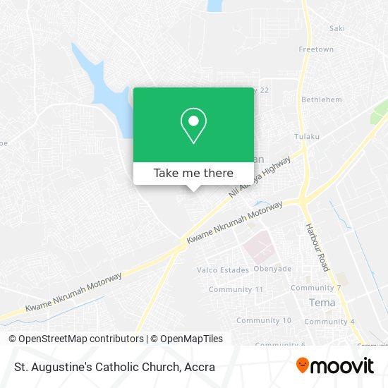 St. Augustine's Catholic Church map